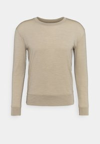 NATURE DYE DRAYDEN CREWE - Basic T-shirt - almond