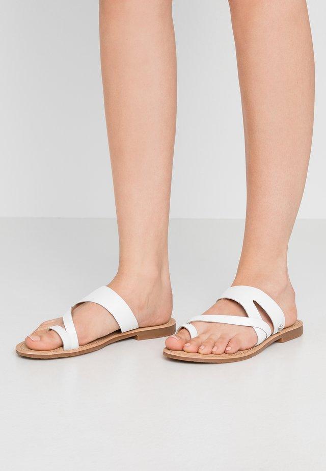 ELORA - T-bar sandals - white