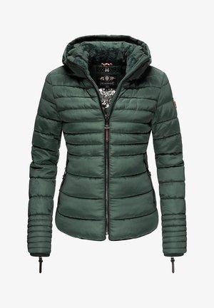 AMBER - Winter jacket - green melange