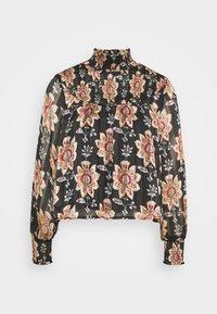 OBJFLORALINA SMOCK - Long sleeved top - black