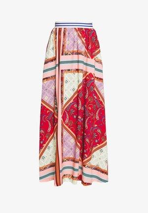 FORGET - Długa spódnica - red/pink