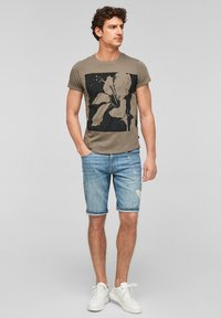 Q/S designed by - Print T-shirt - brown placed print - 1