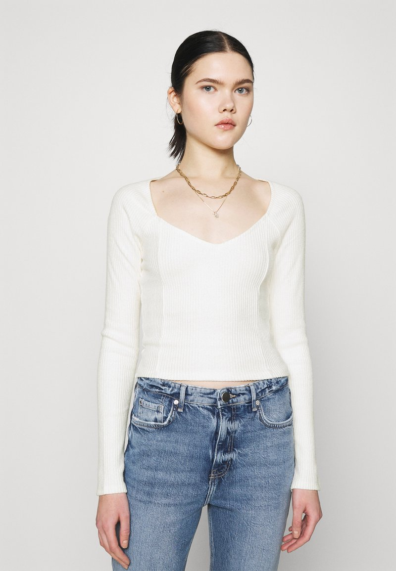 Gina Tricot - EDA - Långärmad tröja - offwhite