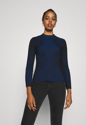 PLATED LYNN MOCK - Pullover - imperial blue/dark black