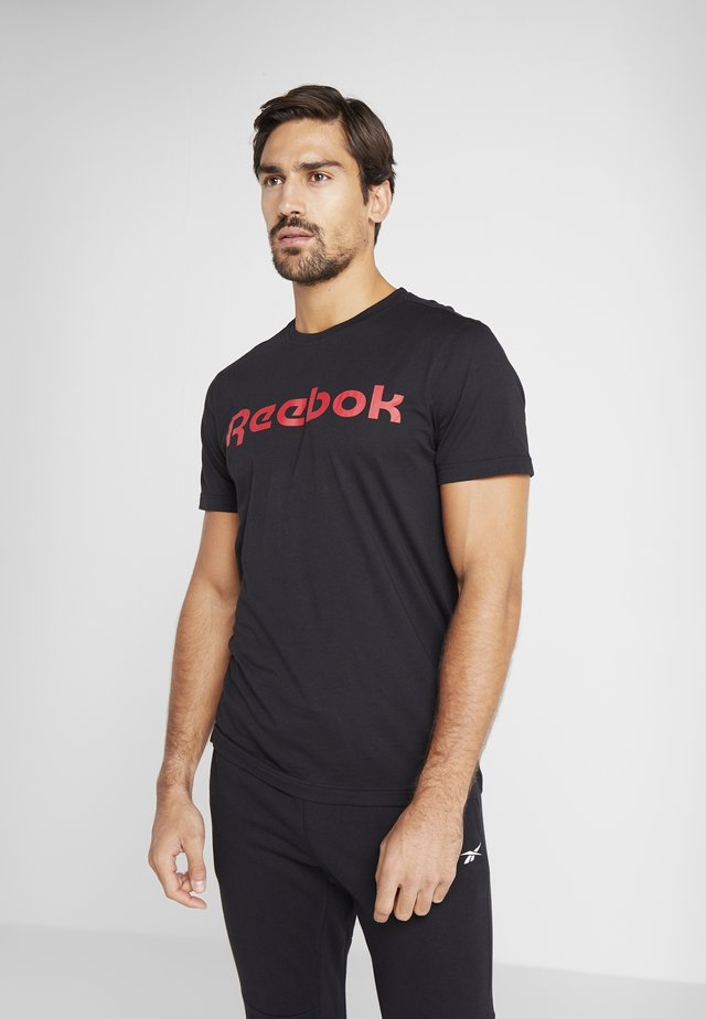 LINEAR READ TEE - T-shirts med print - black