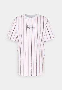 Karl Kani - SMALL SIGNATURE PINSTRIPE TEE - T-shirt med print - white - 6
