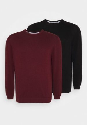 2 PACK - Jumper - black/bordeaux