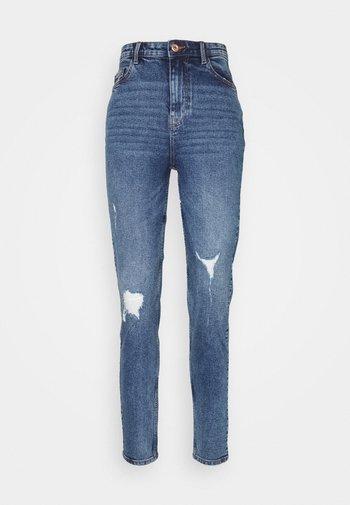 PCKESIA MOM DESTROY - Relaxed fit jeans - medium blue denim