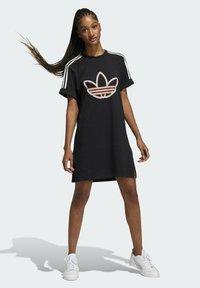 adidas Originals - LOVE UNITES T D - Jersey dress - black - 1