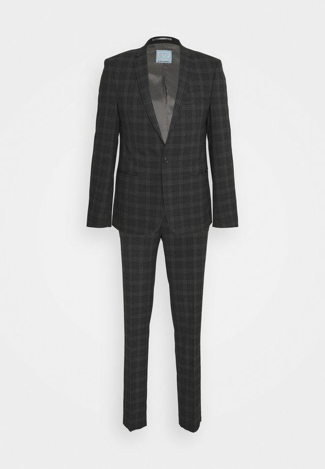 GIRI SUIT SLIM FIT - Suit - charcoal