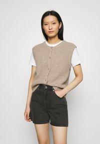 ARKET - SHORTS - Denim shorts - black - 3