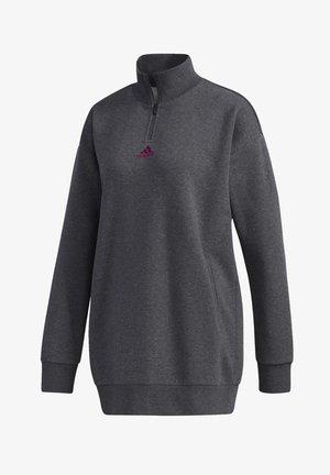 ESSENTIALS COMFORT ELONGATED 1/4 ZIP SWEATSHIRT - Sweatshirt - grey