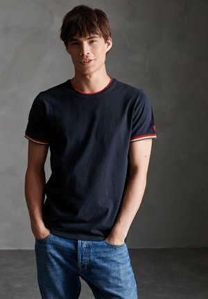 ORANGE LABEL - T-shirt imprimé - eclipse navy