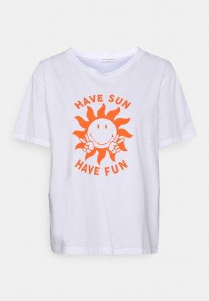 LUCIE - Print T-shirt - ecru