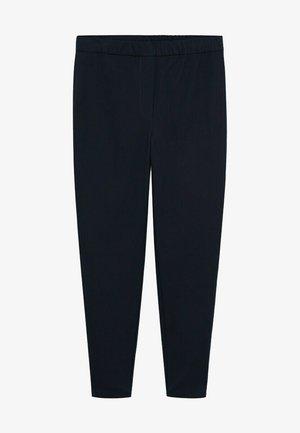 ELASTIC - Trousers - dunkles marineblau