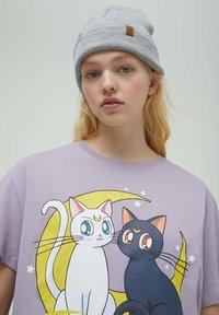 PULL&BEAR - Print T-shirt - mauve - 3