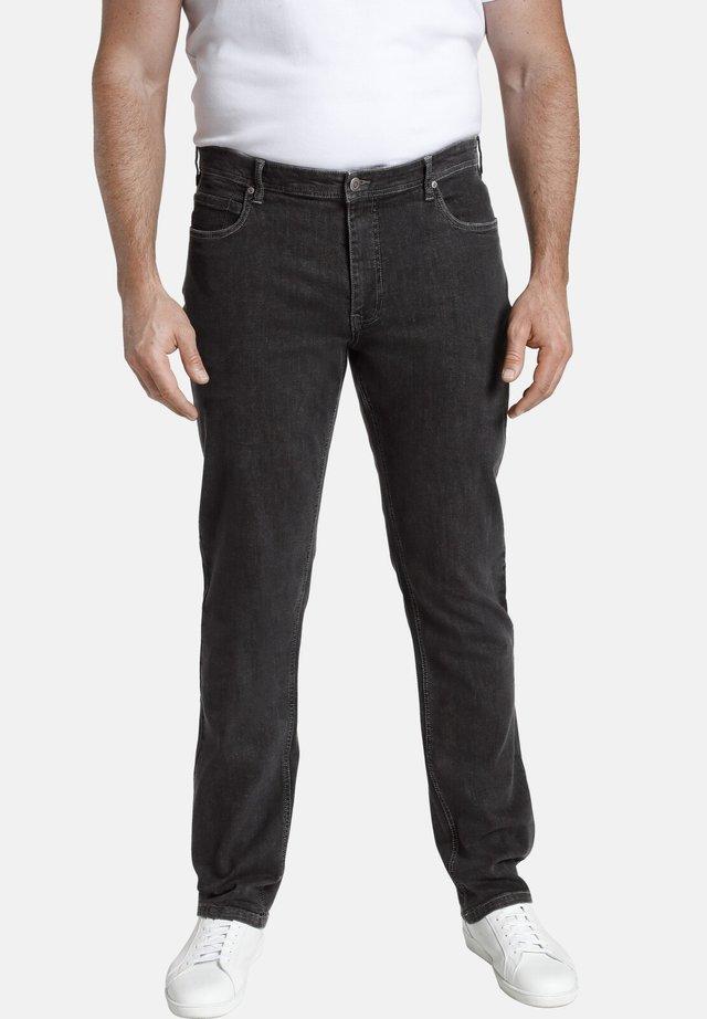 BARON CARL - Straight leg jeans - schwarz