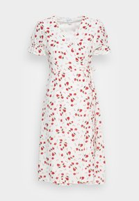 IN THE STYLE - JAC JOSSA FLORAL PRINT WRAP FRONT MIDI DRESS WITH PUFF SLE - Kjole - white - 3