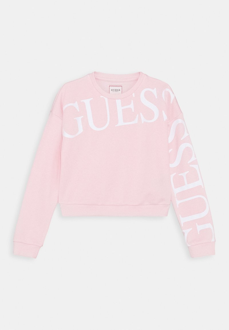 Guess - JUNIOR ACTIVE ICON - Mikina - light pink/white