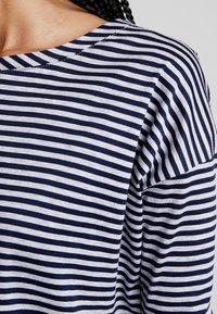 G-Star - VIM LOOSE - Print T-shirt - grey htr/mazarine blue stripe - 3