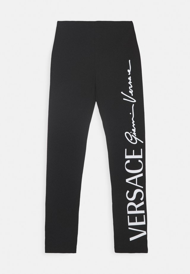 BOTTOM FELPA - Leggings - nero