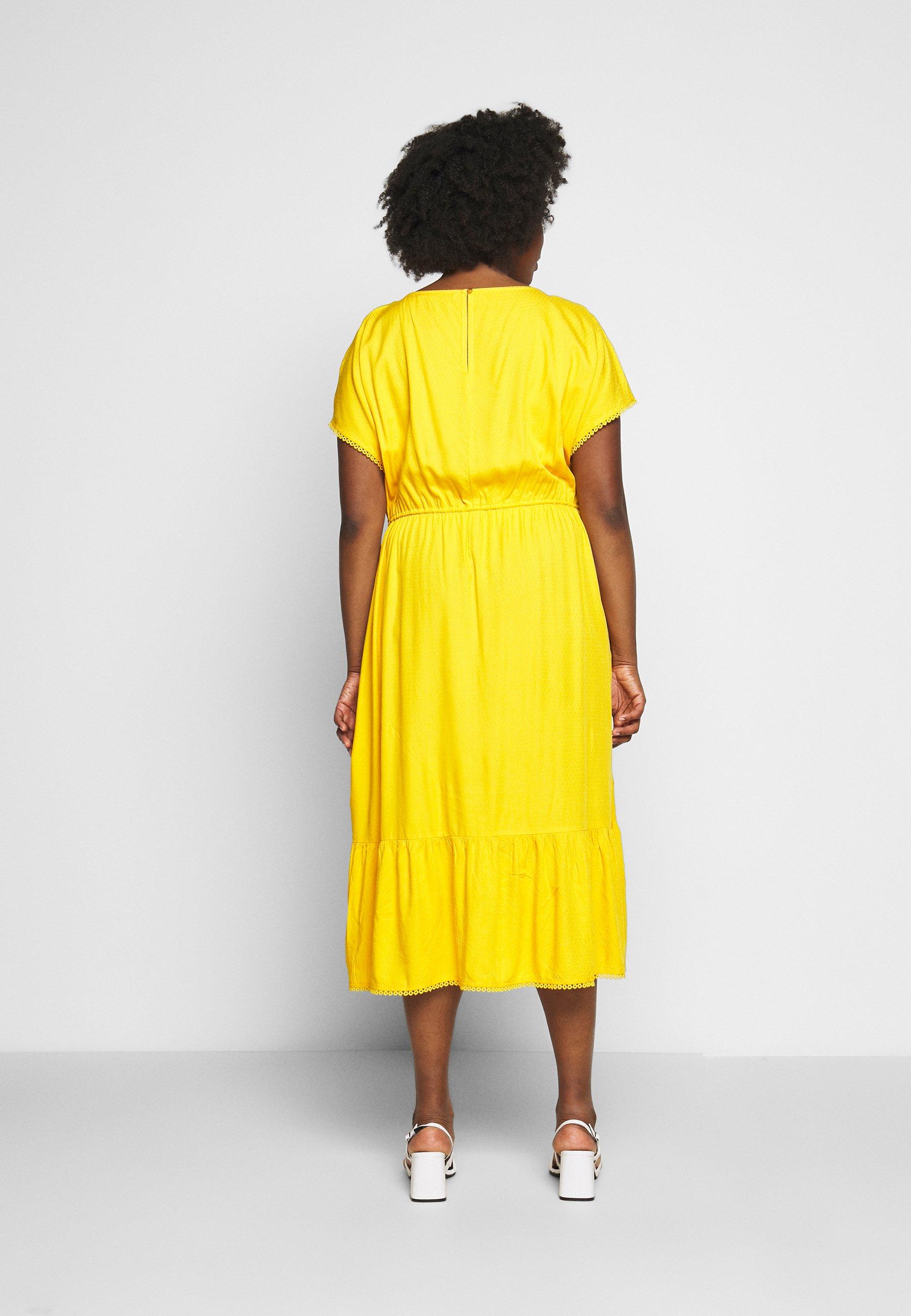 MY TRUE ME TOM TAILOR DOBBY DRESS - Robe d'été - deep golden yellow - Robes femme nRS1S