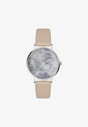 Watch - silver/mother of pearl/beige