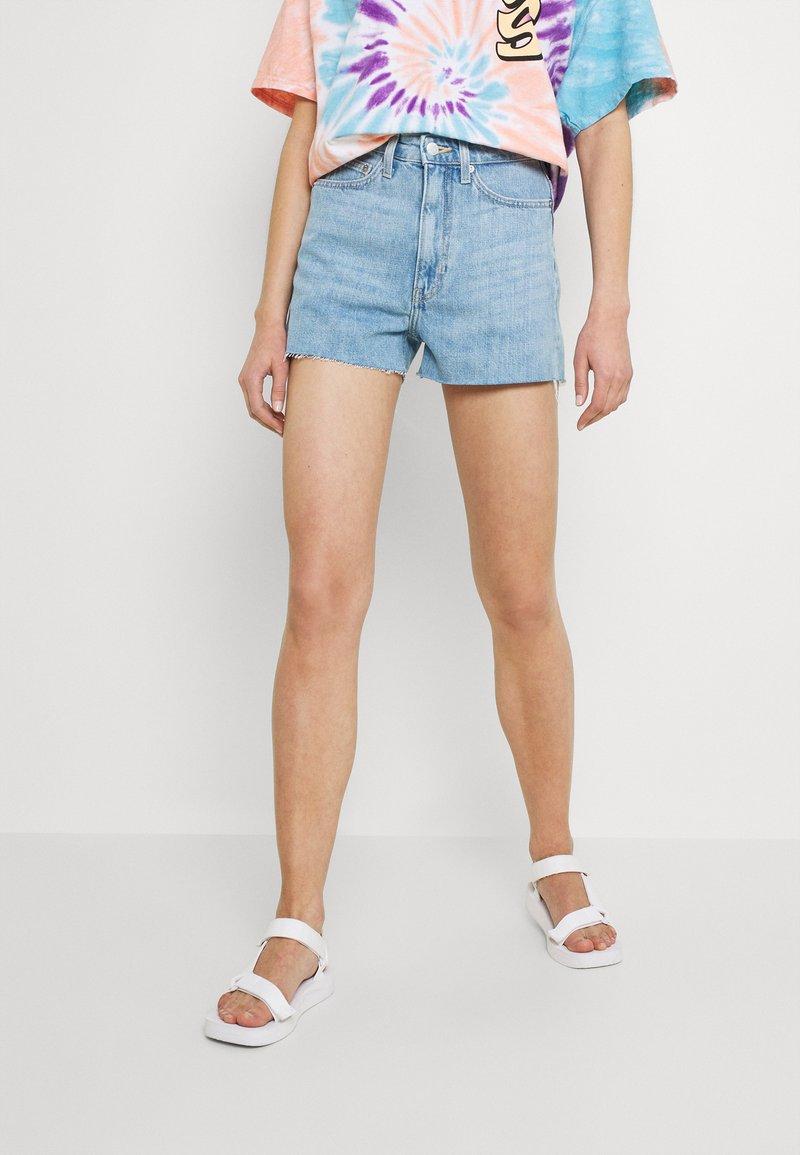 Weekday - ROWE - Denim shorts - blue moise