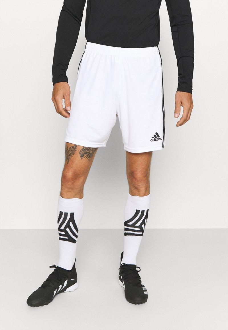 adidas Performance - SQUADRA 21 - Pantalón corto de deporte - white/black