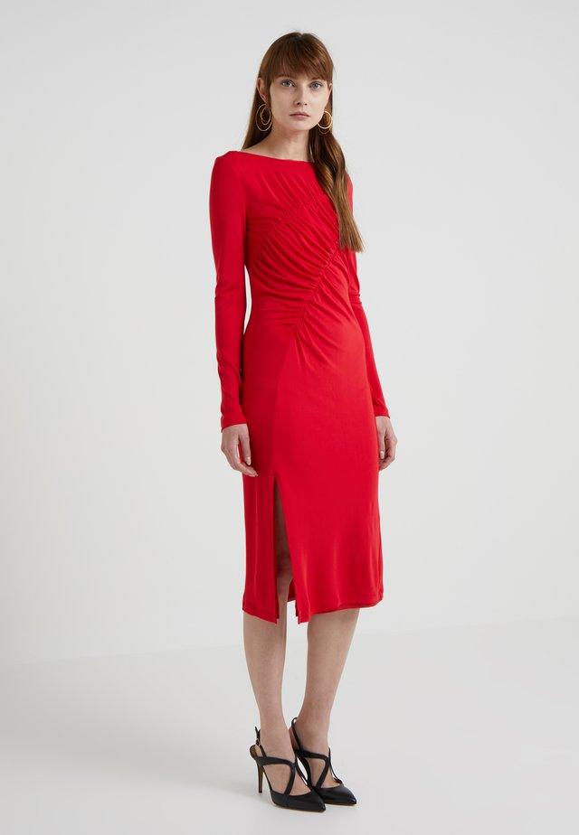 FABIANA - Jerseykjoler - poppy red