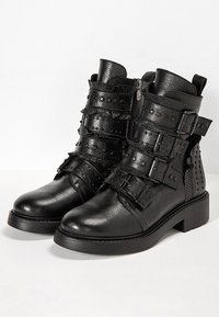 Inuovo - Cowboy/biker ankle boot - black blk - 3
