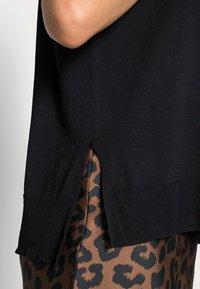 Selected Femme - SLFWILLE O NECK - Triko spotiskem - black - 4