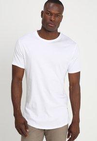 Only & Sons - ONSMATT LONGY 7 PACK - T-shirts - white/black/light grey melange - 1