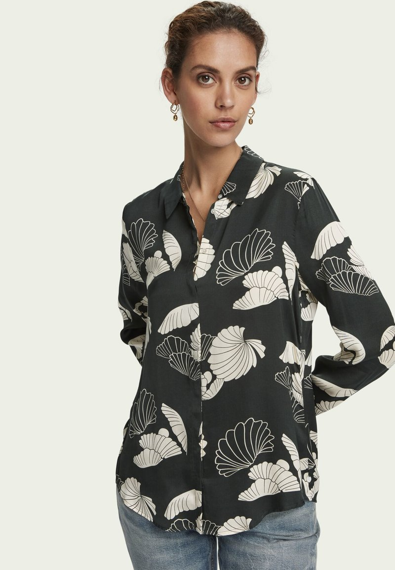 Scotch & Soda - DRAPEY  - Button-down blouse - combo a