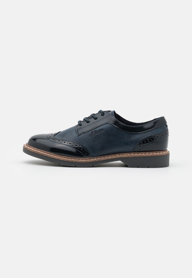 LACE UP - Derbies - navy