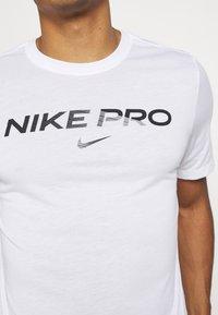 Nike Performance - TEE PRO - Triko spotiskem - white - 6
