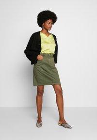Cream - AMALIE SKIRT - Pencil skirt - burnt olive - 1