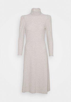 ONLNELLA ROLL NECK DRESS - Jumper dress - pumice stone melange