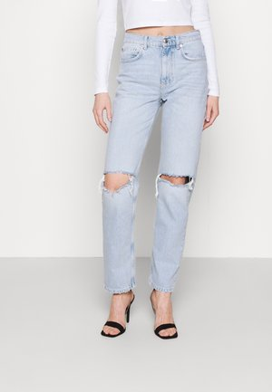 HIGH WAIST - Relaxed fit jeans - sky blue dest