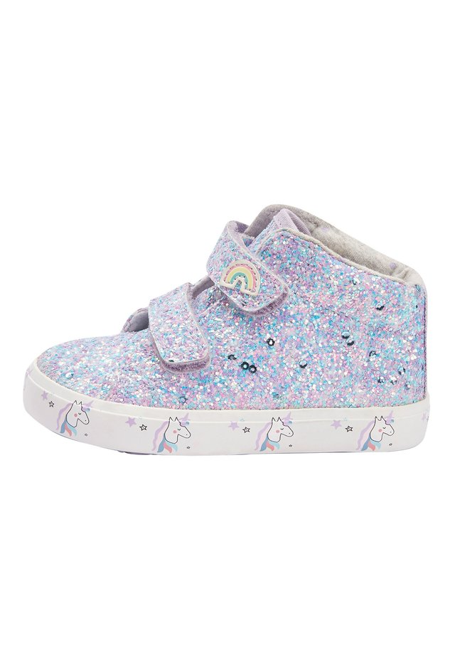 PINK TOUCH FASTENING HIGH TOP TRAINERS (YOUNGER) - Baby shoes - purple
