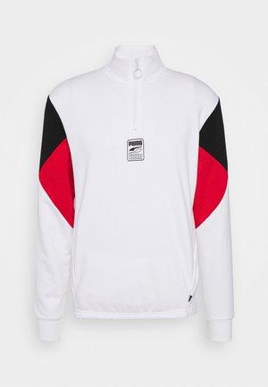 REBEL HALF ZIP - Sweatshirt - white