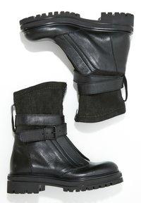 Inuovo - Cowboy- / bikerstøvlette - black blk - 2
