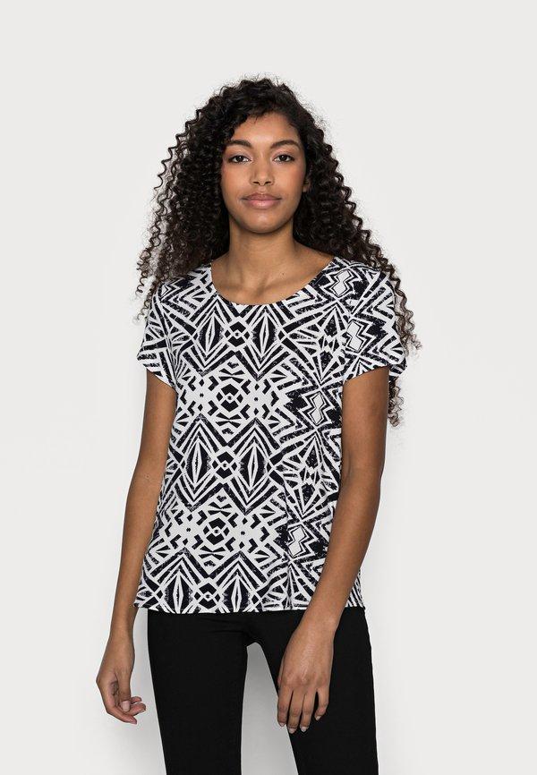 ONLY Petite ONLFIRST ONE LIFE 2 PACK - T-shirt z nadrukiem - black/czarny HBMK