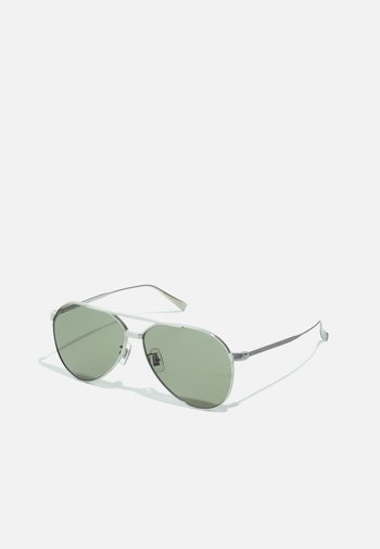 UNISEX - Lunettes de soleil - silver-coloured/silver-coloured/green
