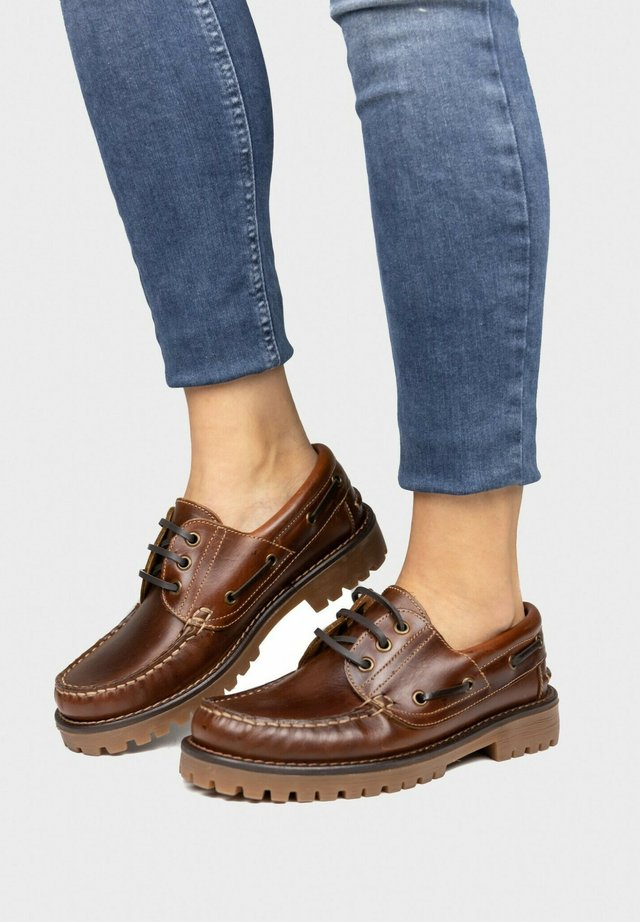 Boat shoes - brun