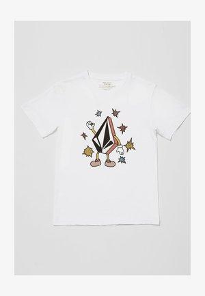 FIZZ STONE BSC SS - Print T-shirt - white