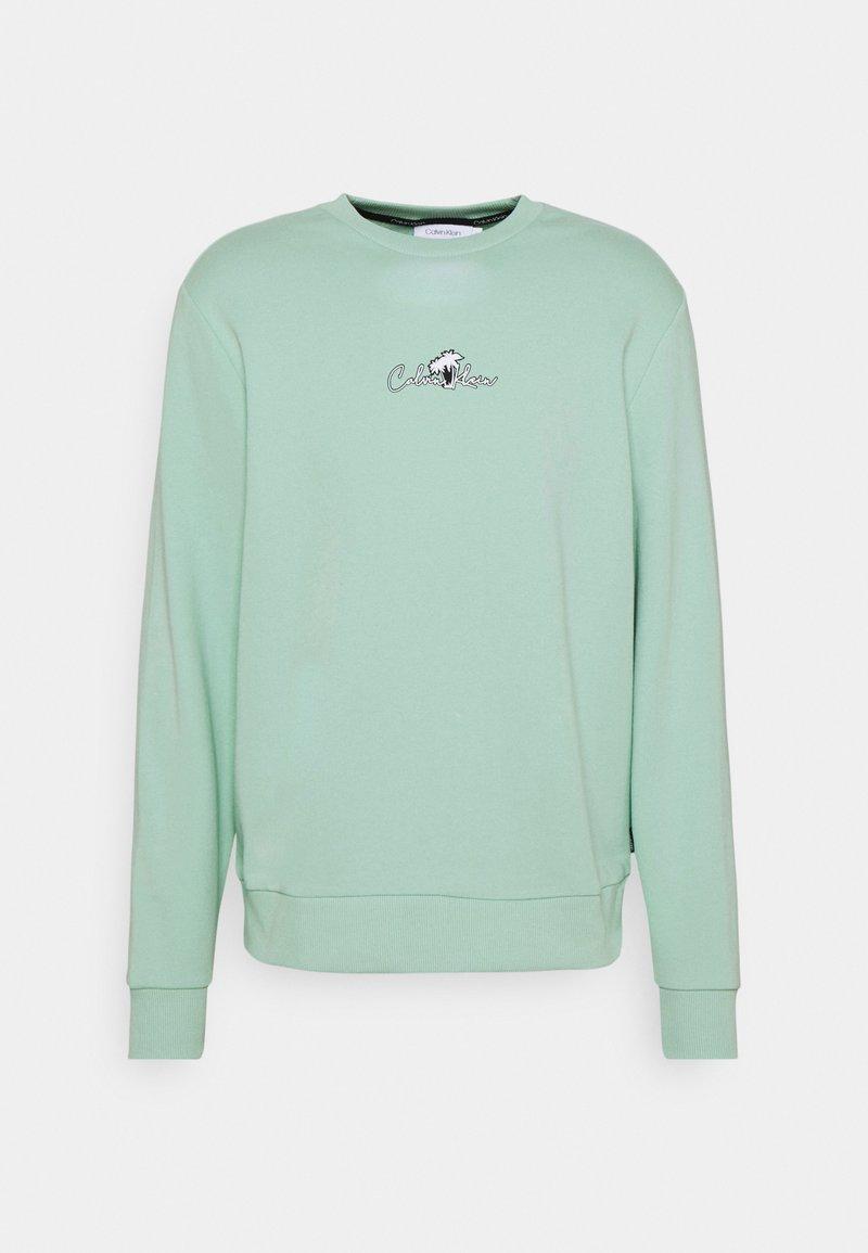 Calvin Klein - SUMMER CENTER LOGO - Felpa - crushed mint