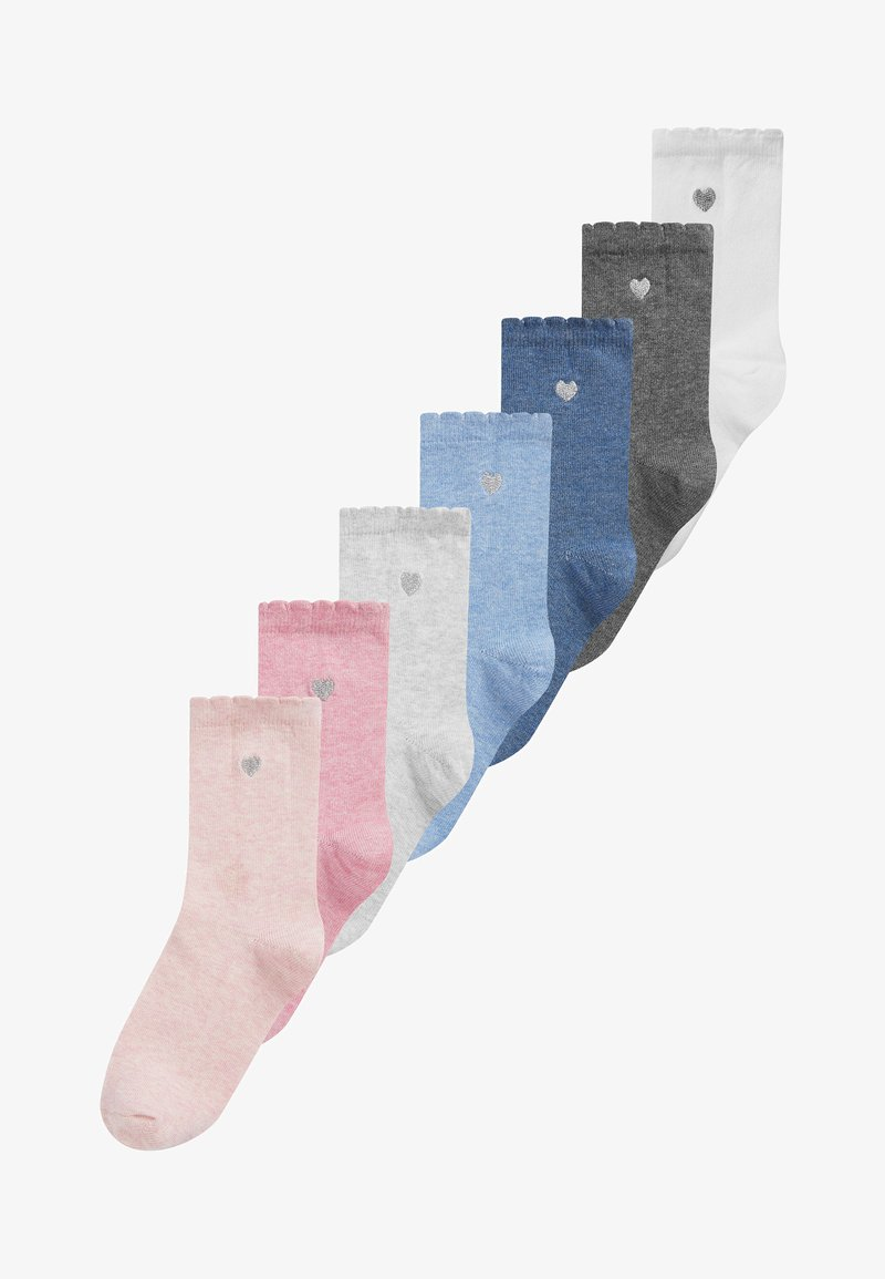 Next - 7 PACK HEART EMBROIDERED - Socks - multi-coloured