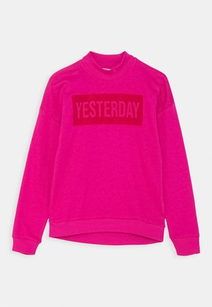 NKFOLISA OVERSIZE BRU CAMP - Sweatshirt - very berry