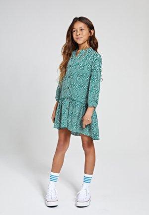 TUVALU DROP WAIST - Shirt dress - hunter green